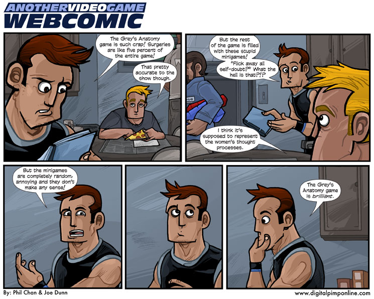 Another Videogame Webcomic 23 4 3 2009 Grey S Anatomy The Video Game