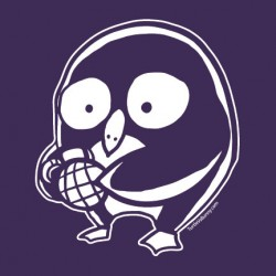 """I'm with Penguin"" shirt (purple variant)"