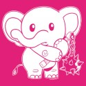 """I'm with Elephant"" shirt (pink variant)"