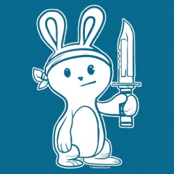 """Bunny with Knife"" women's shirt"