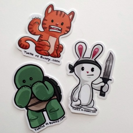 Turtle vs Bunny sticker pack