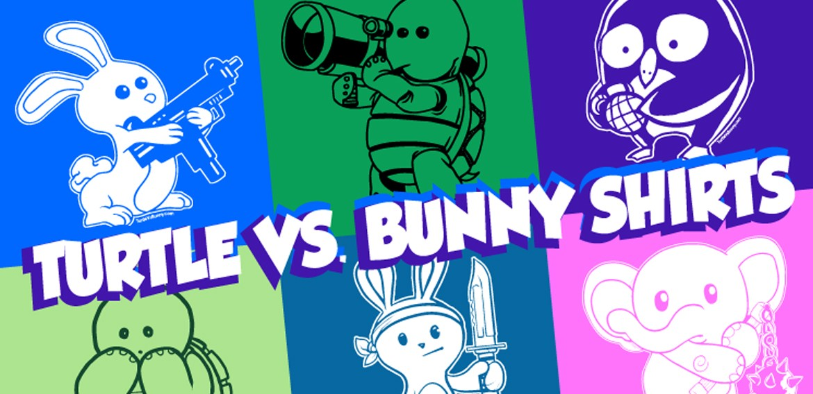 Turtle vs Bunny shirts